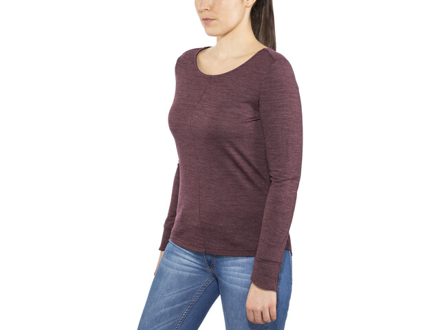 Alchemy Equipment Merino Essential T-shirt à manches longues Femme, wine marle